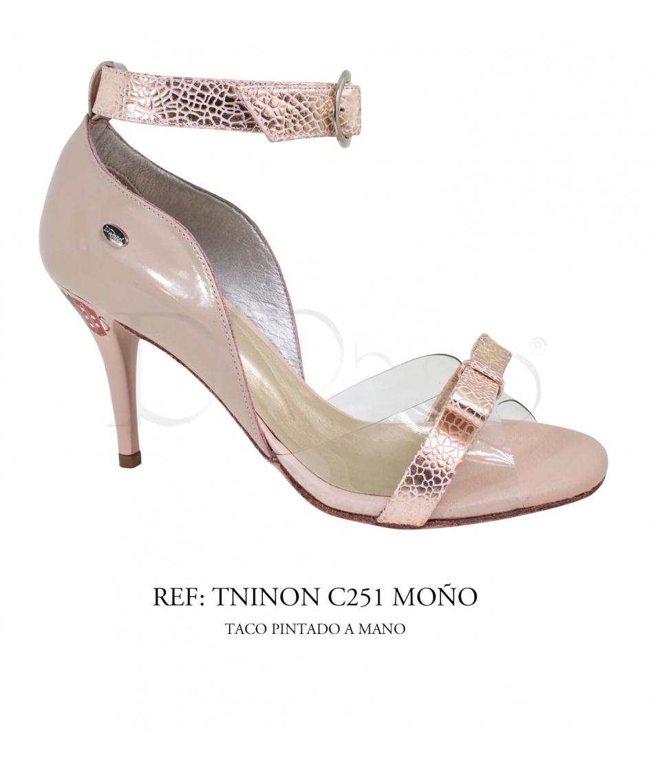 TNINON C251 MOÑO TACO ARTESANAL / TANGO - SALSA - BACHATA / MUJER (BAJO PEDIDO)